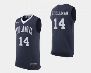 For Men's Omari Spellman Villanova Jersey Navy College Basketball #14