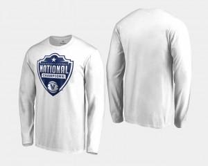 Villanova T-Shirt Mens 2018 Cut Long Sleeve Basketball National Champions White