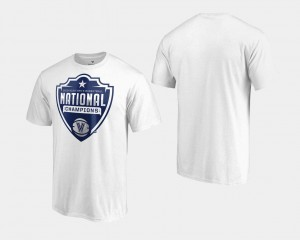 2018 Cut White Villanova University T-Shirt Basketball National Champions For Men