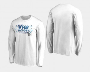 Men's 2018 Victory Long Sleeve Basketball National Champions White Villanova University T-Shirt