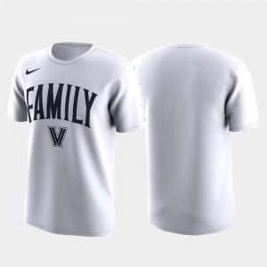March Madness Legend Basketball Performance Villanova T-Shirt Family on Court Men White
