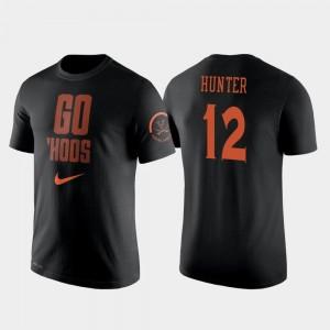 De'Andre Hunter Cavaliers T-Shirt #12 For Men Black College Basketball Nike 2 Hit Performance