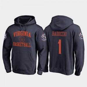 In Bounds Francesco Badocchi UVA Cavaliers Hoodie Men's Navy Fanatics Branded College Basketball #1