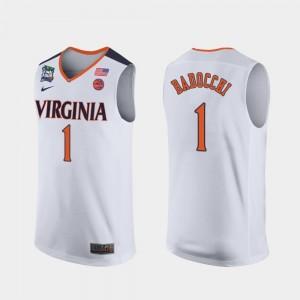 2019 Final-Four Mens White Francesco Badocchi Virginia Jersey #1