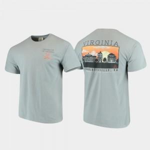 Gray Comfort Colors University of Virginia T-Shirt Men's Campus Scenery