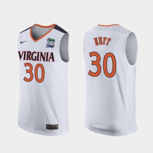 For Men's White 2019 Final-Four Replica #30 Jay Huff UVA Cavaliers Jersey