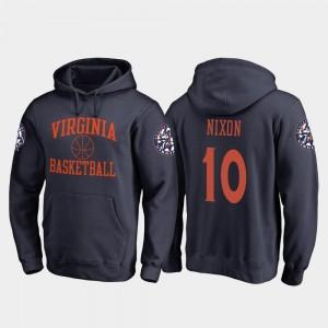 Fanatics Branded College Basketball Navy For Men #10 In Bounds Jayden Nixon Virginia Hoodie