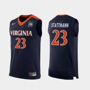 #23 2019 Final-Four Kody Stattmann UVA Cavaliers Jersey Replica Navy Men's