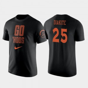 #25 College Basketball Men Nike 2 Hit Performance Black Mamadi Diakite UVA Cavaliers T-Shirt