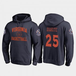 Fanatics Branded College Basketball In Bounds #25 Navy Mamadi Diakite Virginia Cavaliers Hoodie For Men's