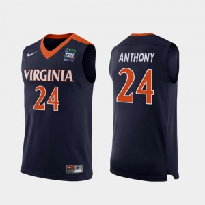 For Men 2019 Final-Four #24 Navy Replica Marco Anthony Virginia Jersey