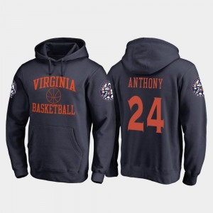 In Bounds #24 Fanatics Branded College Basketball Navy Mens Marco Anthony Cavaliers Hoodie