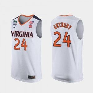 Marco Anthony Virginia Cavaliers Jersey 2019 Final-Four #24 White Mens
