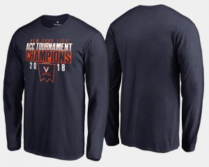 Basketball Conference Tournament Navy For Men 2018 ACC Champions Long Sleeve Cavaliers T-Shirt