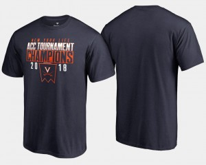 2018 ACC Champions Navy Basketball Conference Tournament Virginia T-Shirt Men's