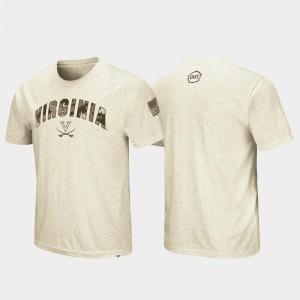 Virginia T-Shirt OHT Military Appreciation Oatmeal Mens Desert Camo