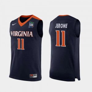 Ty Jerome Virginia Jersey For Men Replica 2019 Final-Four #11 Navy