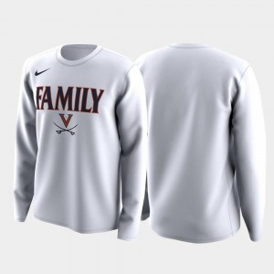 March Madness Legend Basketball Long Sleeve For Men's Family on Court White Cavaliers T-Shirt