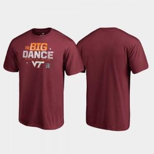 Virginia Tech T-Shirt March Madness 2019 NCAA Basketball Tournament Garnet Big Dance Men's