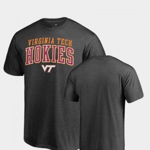 Hokies T-Shirt Fanatics Branded Square Up For Men's Heathered Charcoal