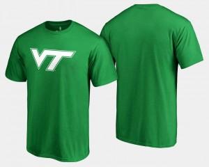 Kelly Green For Men Hokies T-Shirt St. Patrick's Day White Logo Big & Tall