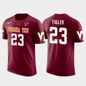 Crimson Men Kansas City Chiefs Football #23 Future Stars Kendall Fuller Virginia Tech T-Shirt