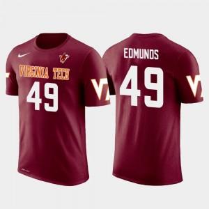 Future Stars Crimson Buffalo Bills Football Tremaine Edmunds VT Hokies T-Shirt #49 Men