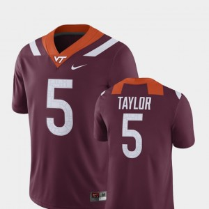 Maroon Player Nike Tyrod Taylor Hokies Jersey #5 Men Alumni Football Game