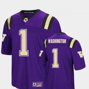 Colosseum Authentic Mens UW Jersey #1 Foos-Ball Football Purple