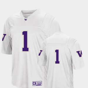 White Colosseum 2018 #1 College Football Men's Washington Jersey