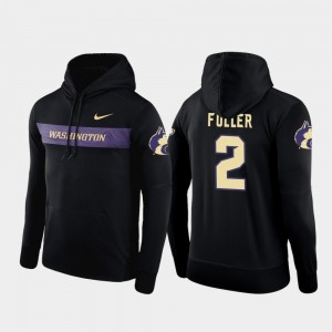 For Men's Black Sideline Seismic #2 Aaron Fuller University of Washington Hoodie Nike Football Performance