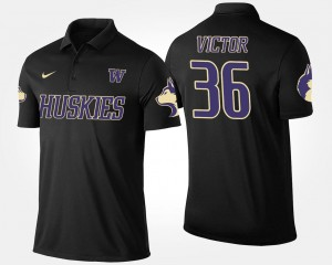 #36 Azeem Victor UW Polo Name and Number For Men Black