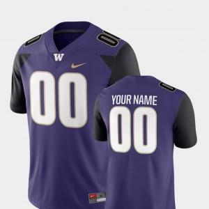 Washington Huskies Customized Jersey Purple Men #00 2018 Game Nike College Football