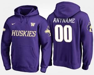 #00 For Men Purple UW Custom Hoodie Name and Number