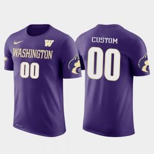 Future Stars UW Huskies Customized T-Shirt Cotton Football #00 Purple Men's