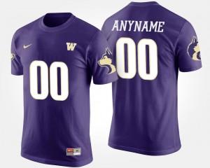 Purple #00 For Men's Name and Number T shirt University of Washington Customized T-Shirts
