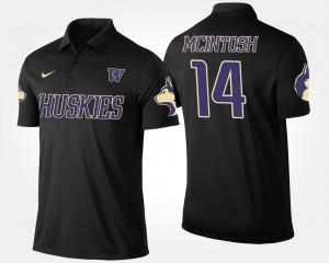 Name and Number #14 JoJo McIntosh Washington Huskies Polo For Men Black