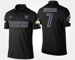 Name and Number For Men Keishawn Bierria Washington Huskies Polo #7 Black