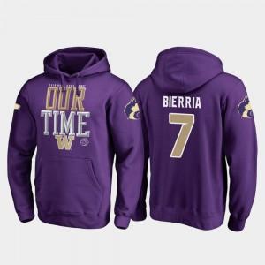 #7 Fanatics Branded Counter 2019 Rose Bowl Bound Keishawn Bierria UW Hoodie Purple Men