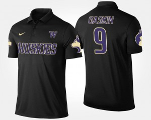 Black For Men Name and Number #9 Myles Gaskin UW Huskies Polo