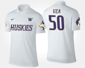 White #50 Vita Vea University of Washington Polo Men Name and Number