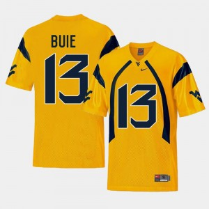 For Men Gold Replica College Football Andrew Buie WVU Jersey #13