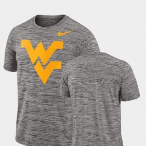 West Virginia Mountaineers T-Shirt Performance Nike Men 2018 Player Travel Legend Charcoal