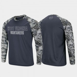 Charcoal Camo Raglan Long Sleeve Digi Camo For Men's OHT Military Appreciation Mountaineers T-Shirt