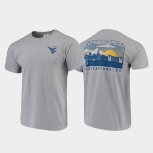 Campus Scenery For Men West Virginia University T-Shirt Comfort Colors Gray