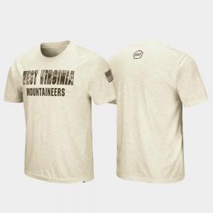 West Virginia University T-Shirt Oatmeal For Men's OHT Military Appreciation Desert Camo