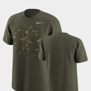 West Virginia University T-Shirt Legend Camo Olive Mens Nike