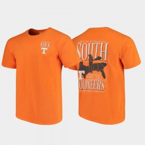 West Virginia University T-Shirt Tennessee Orange Comfort Colors Mens Welcome to the South