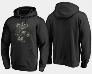 For Men's Camo Cloak Big & Tall Black Wisconsin Hoodie