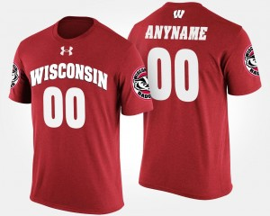 Mens UW Custom T-Shirt Red Name and Number #00 T shirt